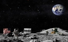 Advertise NNM - fighting for your desktop - with a view of the land of the Moon