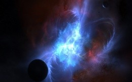 Beautiful space 3D effects