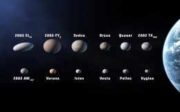 Dimensions asteroids