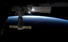 ISS in space