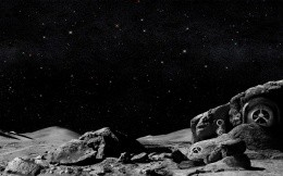 The surface of the mysterious planet in space - on your desktop