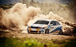 Charged on an Opel car rally racing