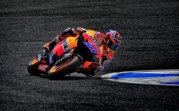 Honda sport bike on the track