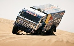 Kamaz in the desert