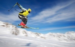 Skier in flight