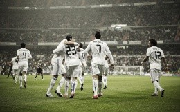 The team of Real Madrid on the football field