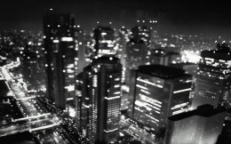 Black and white wallpaper - city closeup