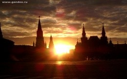 Kremlin in Moscow, the sunset on the Kremlin Square, wallpaper, city, town