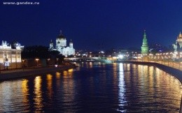 Moscow, night views of Moscow, Moscow River, wallpaper, city