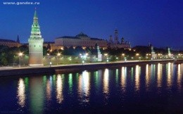 Night Moscow, the Kremlin, Moscow River - wallpapers, themes, city, city
