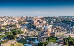 Street view of Rome