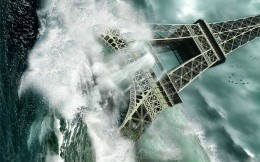 The fall of the Eiffel Tower, the flood