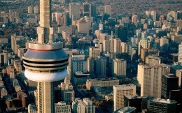 The views of the Tower - Toronto, Canada, widescreen photo wallpaper, city