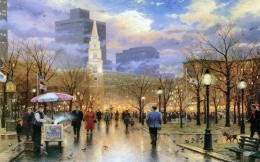 Thomas Kinkade - autumn city