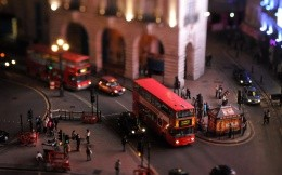 Tilt shift miniature streets of London