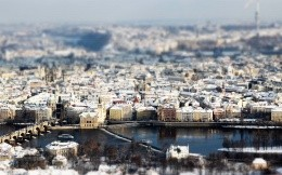 Tilt Shift photo Prague