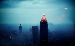 Urban skyscrapers wallpaper Atlanta City (Atlanta City)