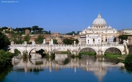 Vatican City, Rome, Italy - desktop wallpaper, the bridge over the river - city