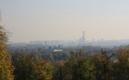 View of Moscow from the park