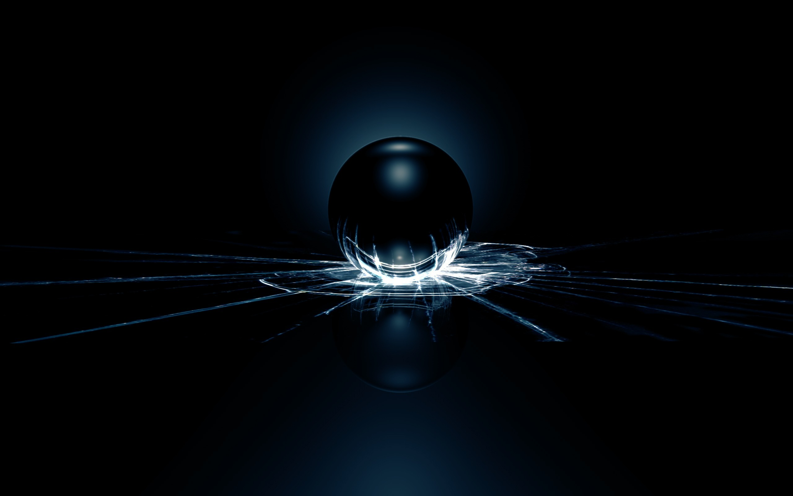 3D wallpaper with a steel ball to break the glass