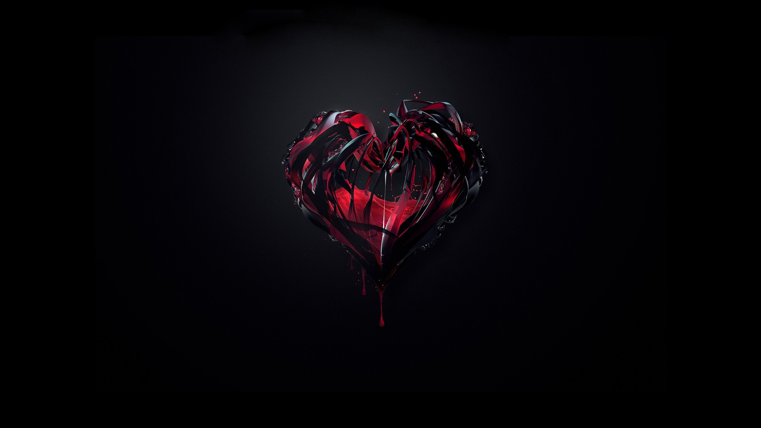 Beautiful abstract 3D heart