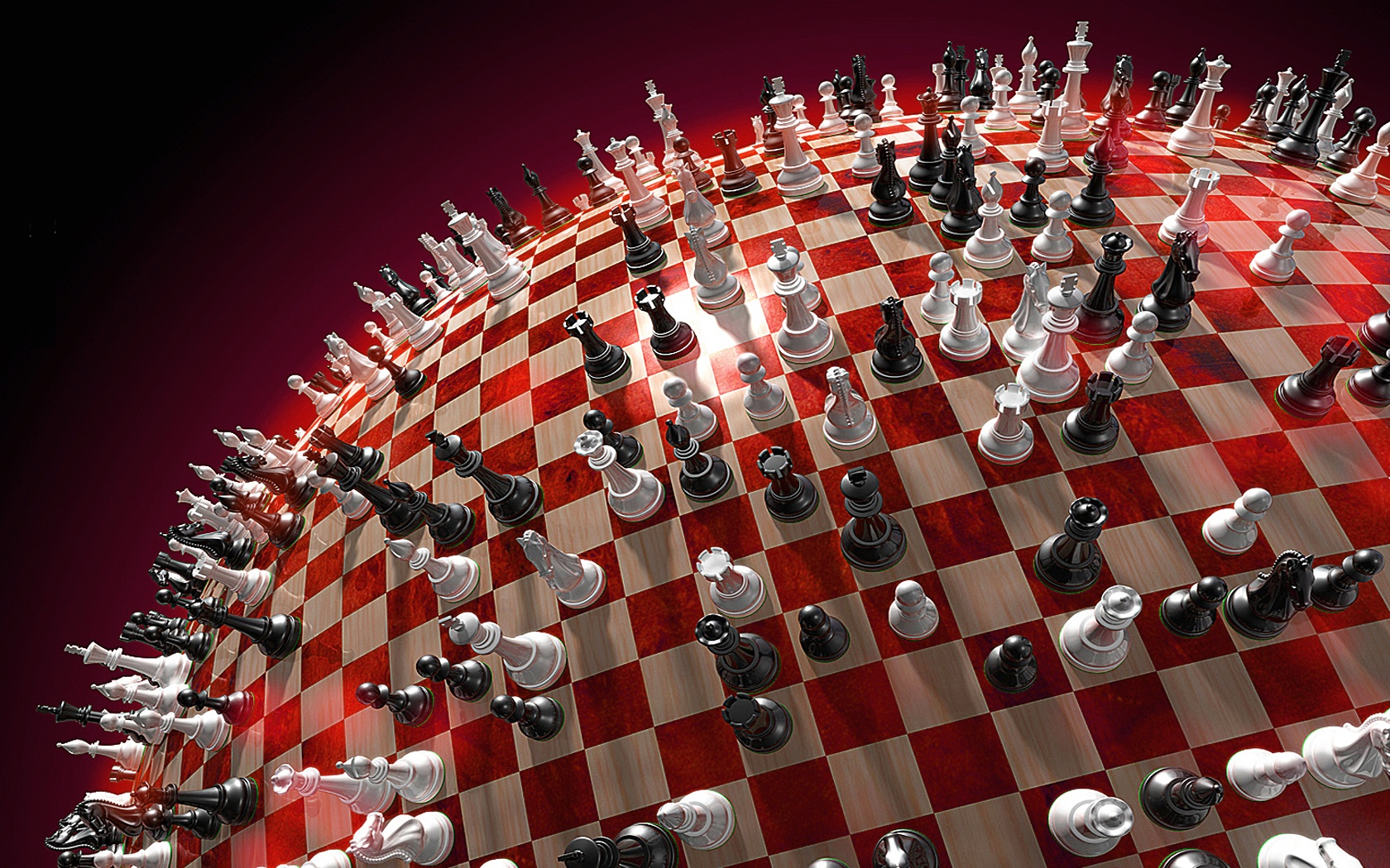 Chess board, 3d wallpapers