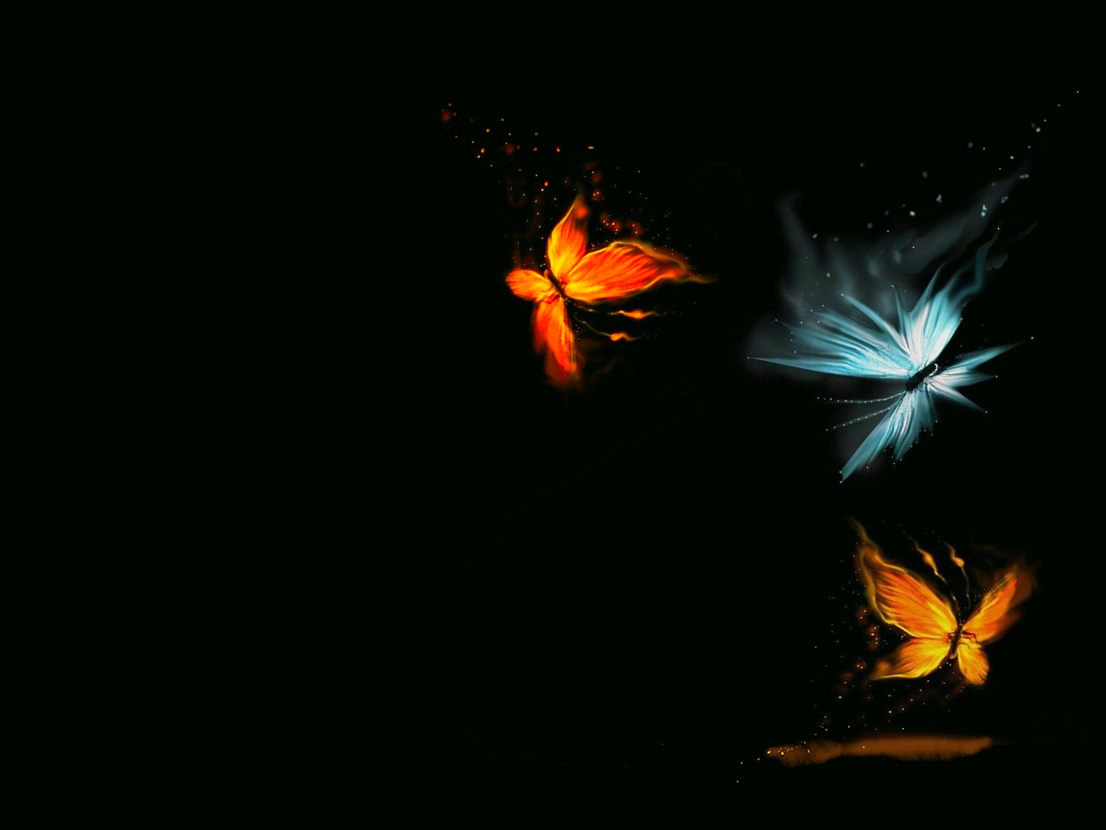 Fire and ice butterflies