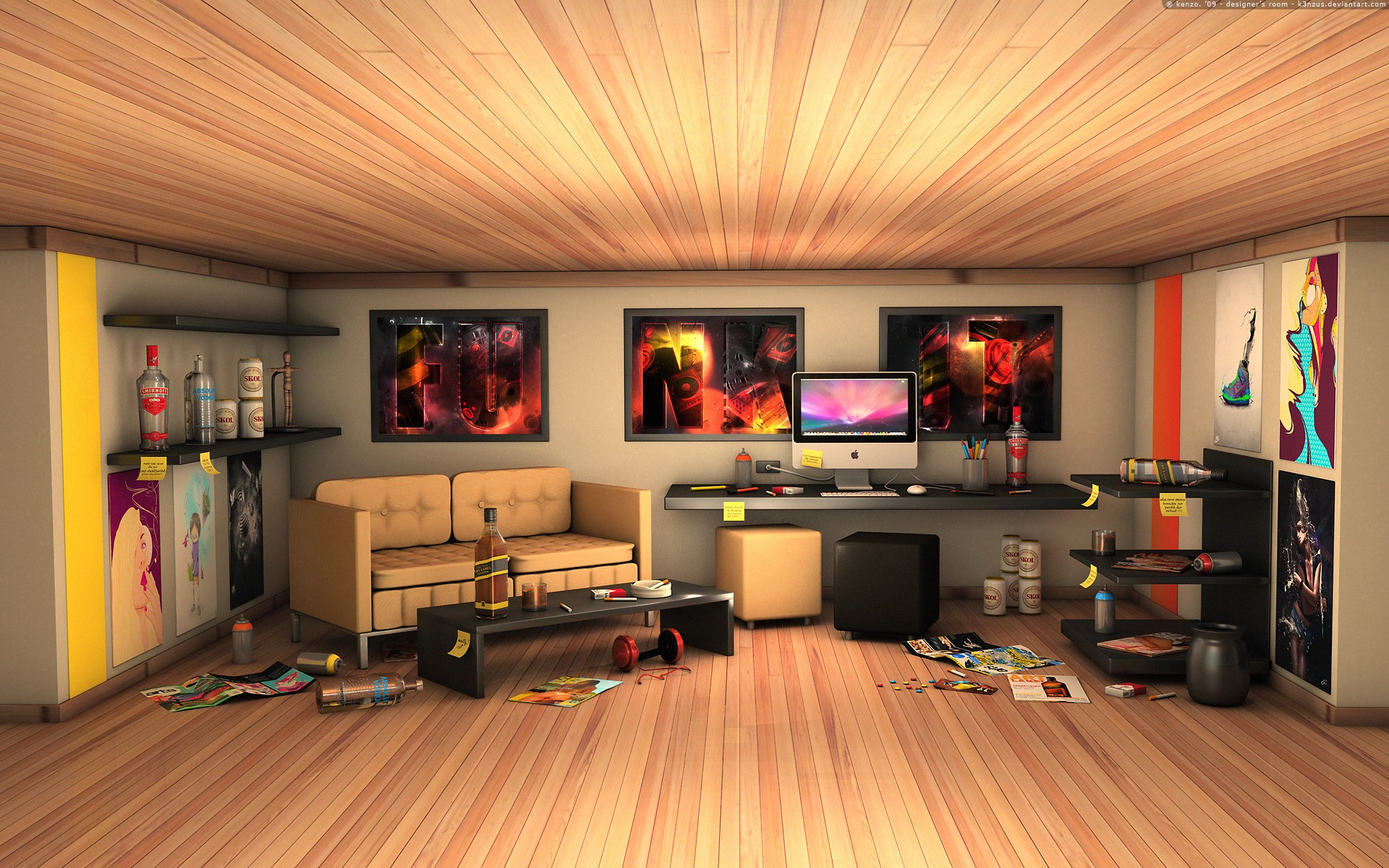 Room web designer: Mak and mess 1920x1200.