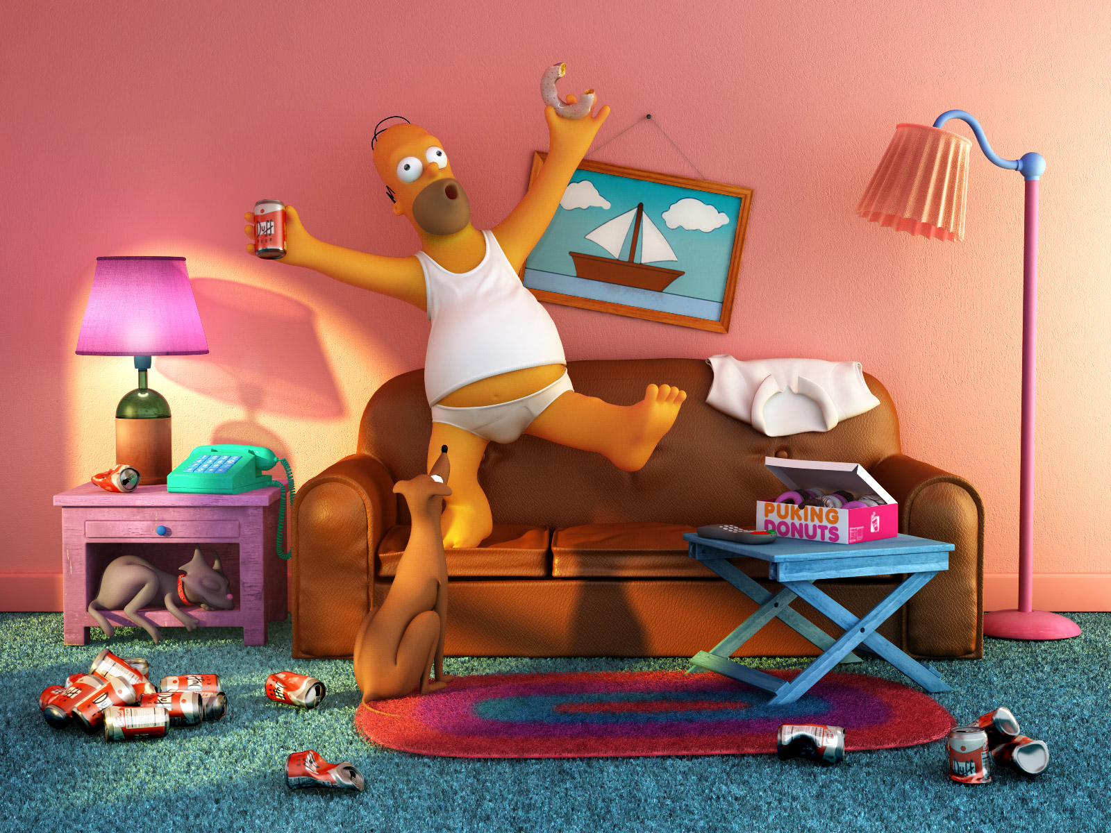The Simpsons in 3D