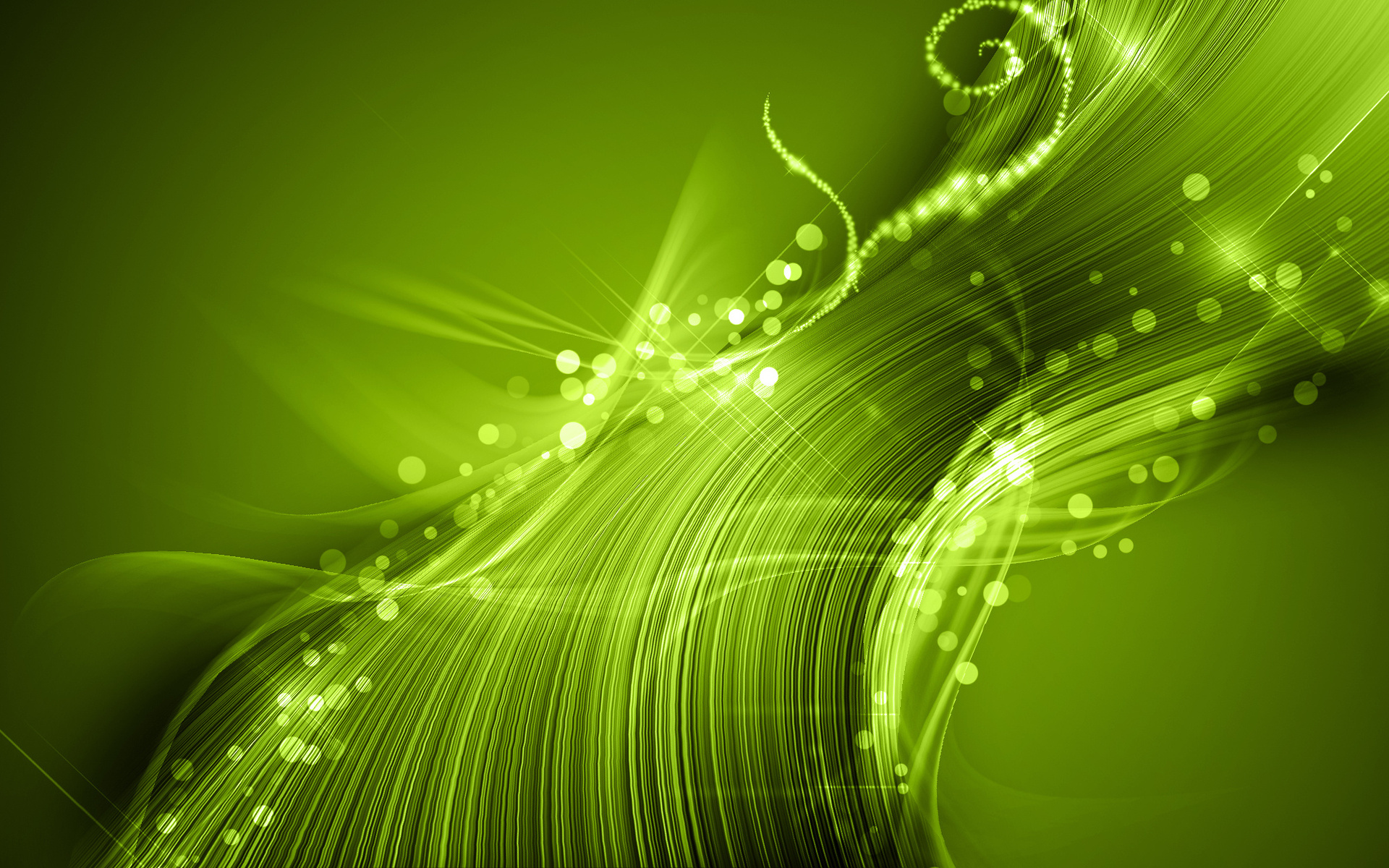 Cute green abstraction
