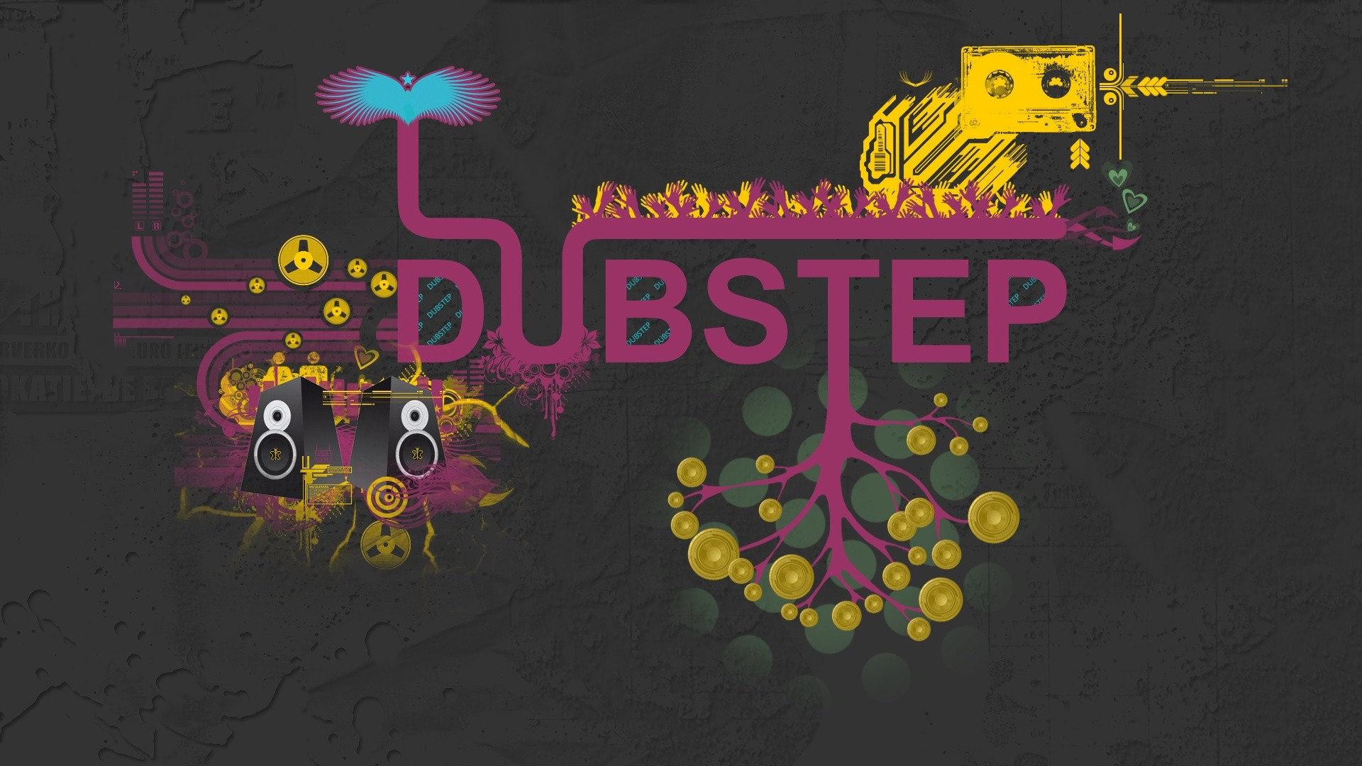 Dubstep, creative abstract wallpaper music and dance themes