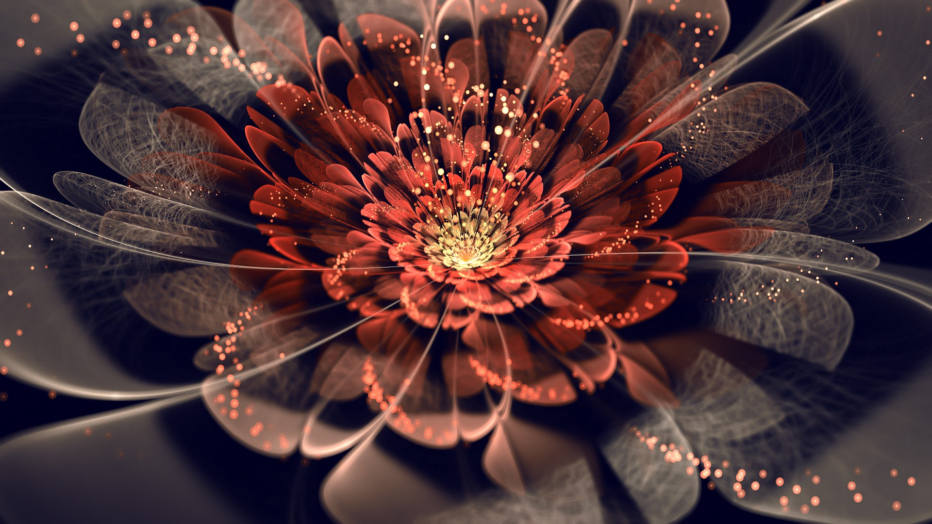 Flower bud in a fractal graphics