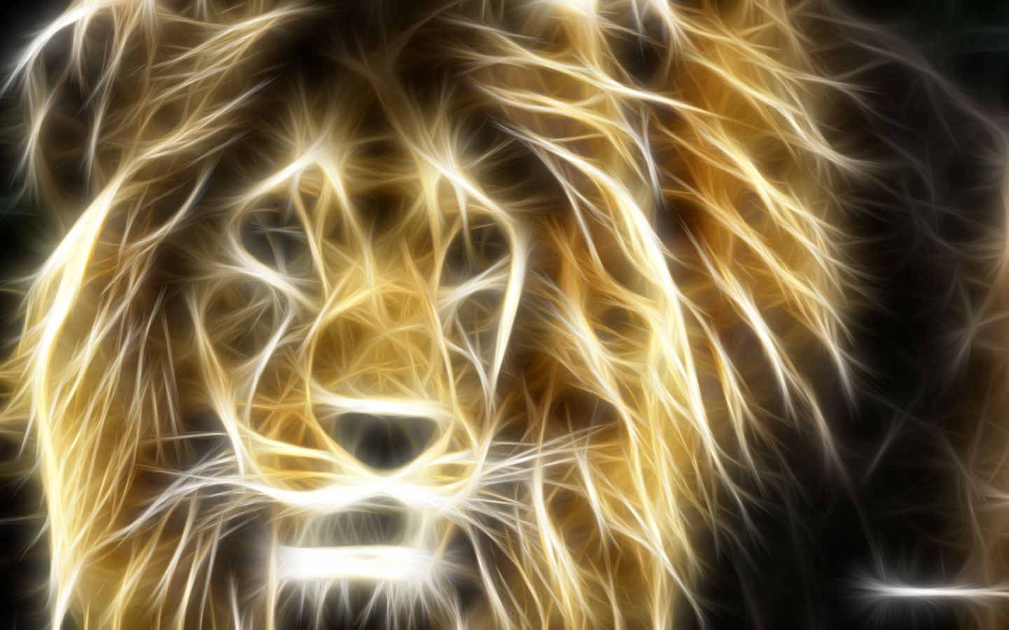 lion painted light