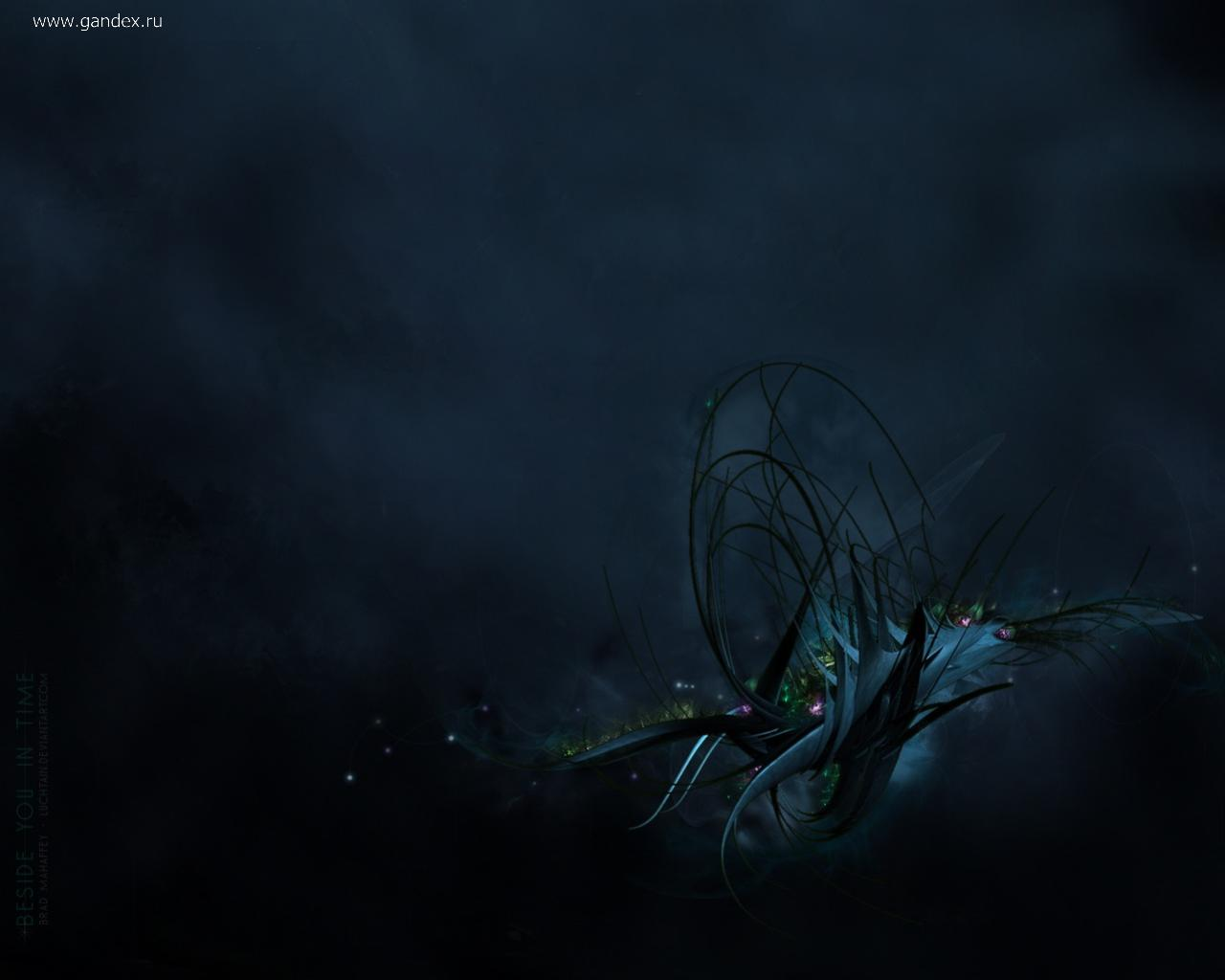 Very cool abstraction on a dark background, stylish and beautiful.