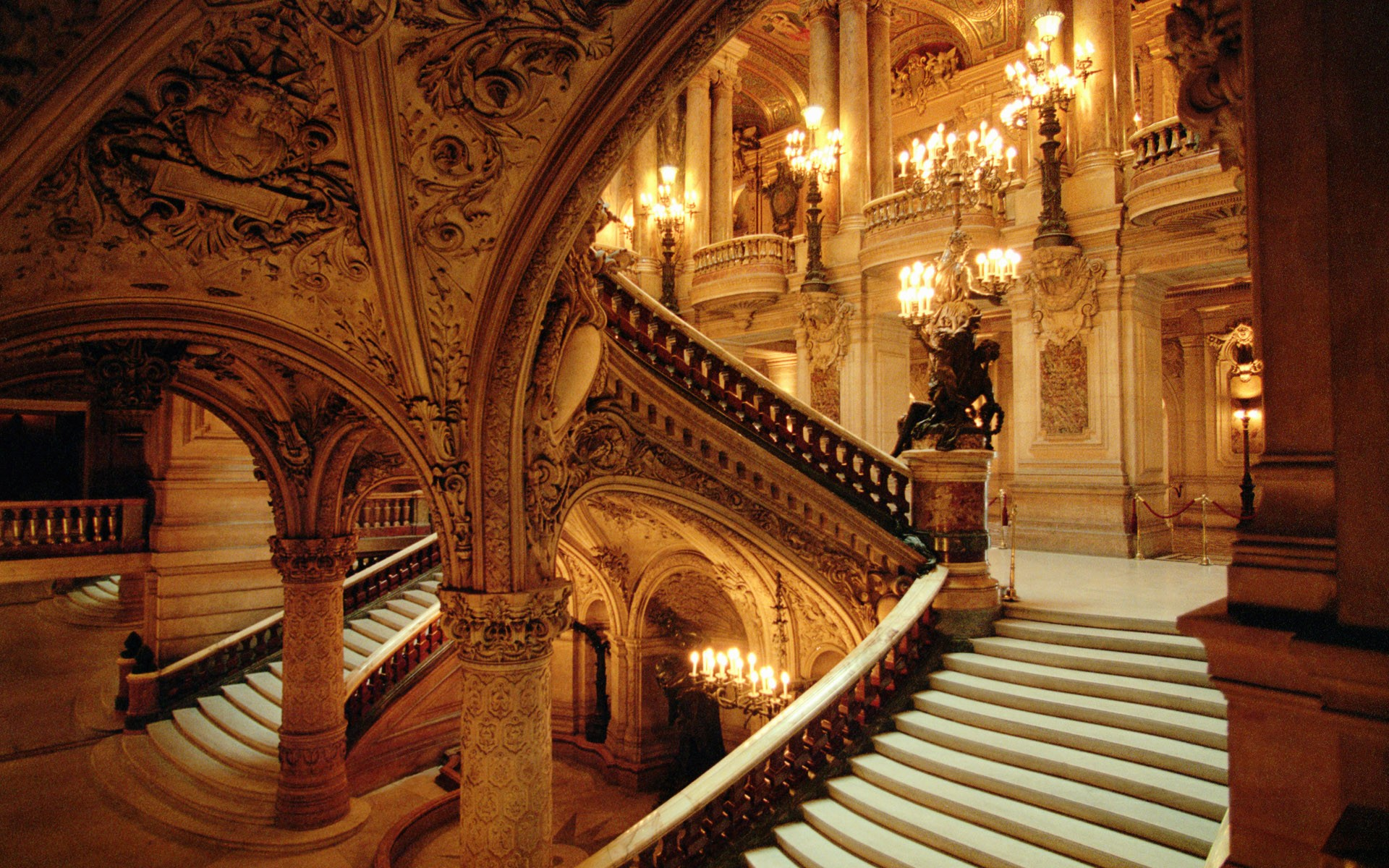 Beautiful interior of the opera house in France
