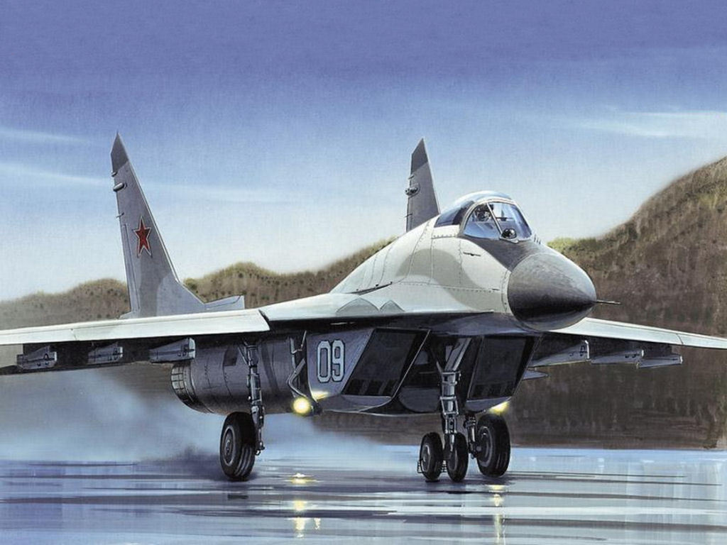 Russian military aircraft MIG 29