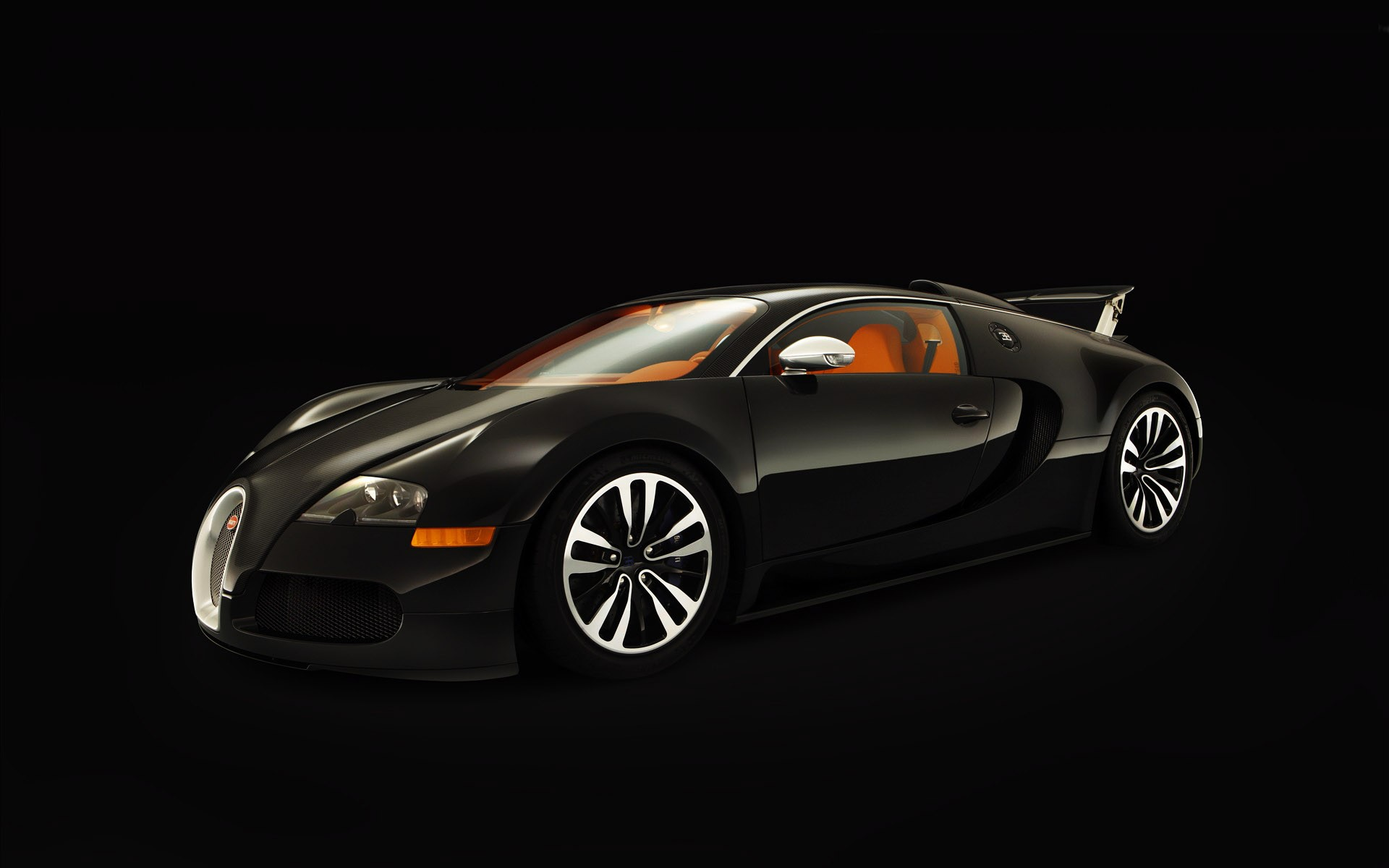 3D model of the Bugatti Veyron, on a black background