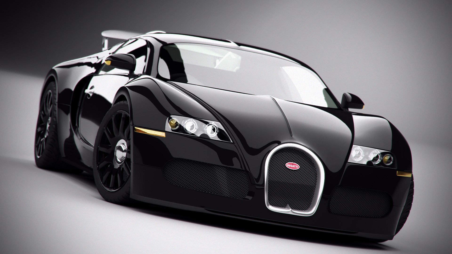 Bugatti Veyron supersport, photo black car