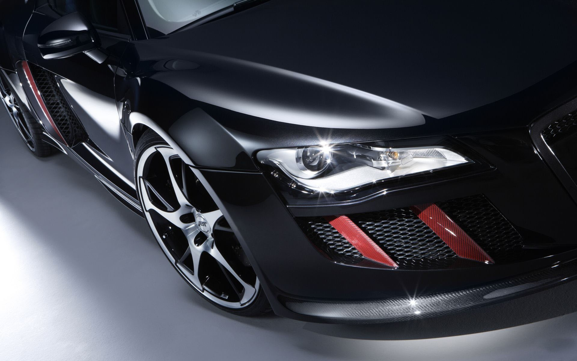 Headlight black Audi R8, car picture 1920x1200.