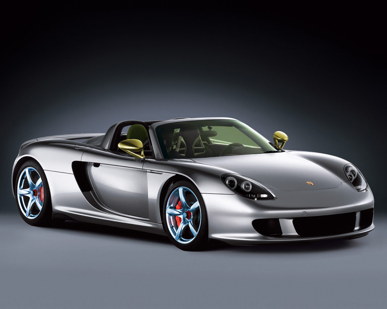 Luxury car on a gray gradient background - wallpaper