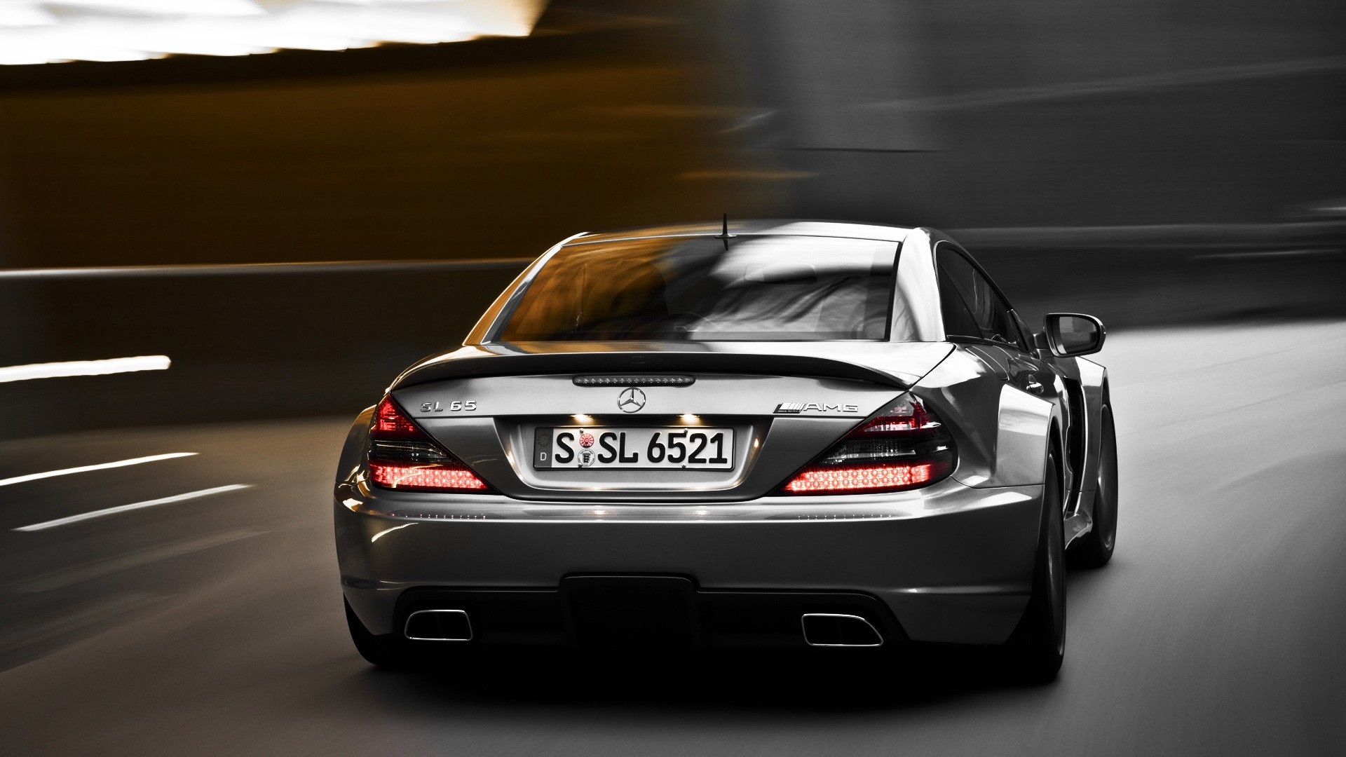 Mercedes Benz SL65 AMG black, wallpaper