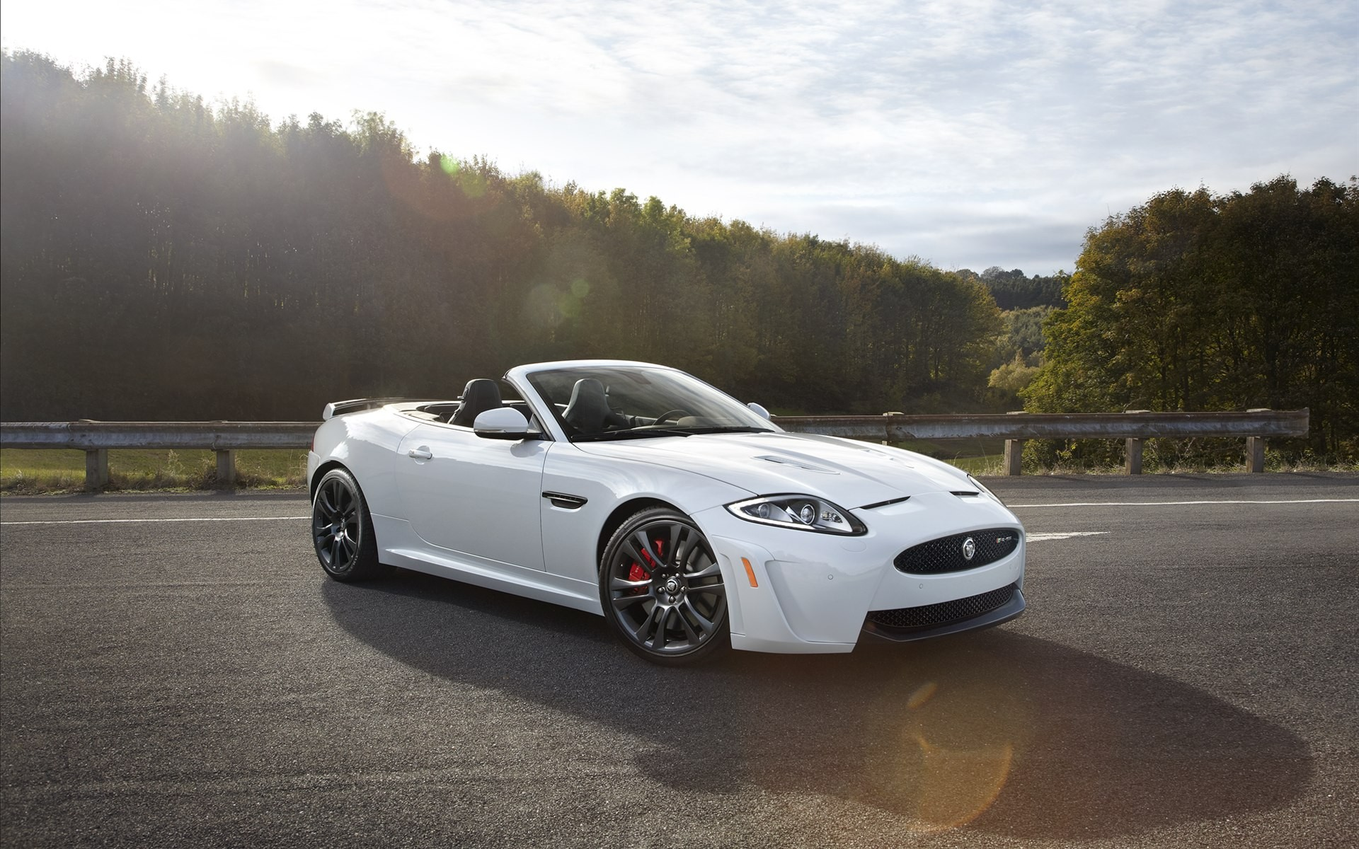 Outdoor sports coupe Jaguar white