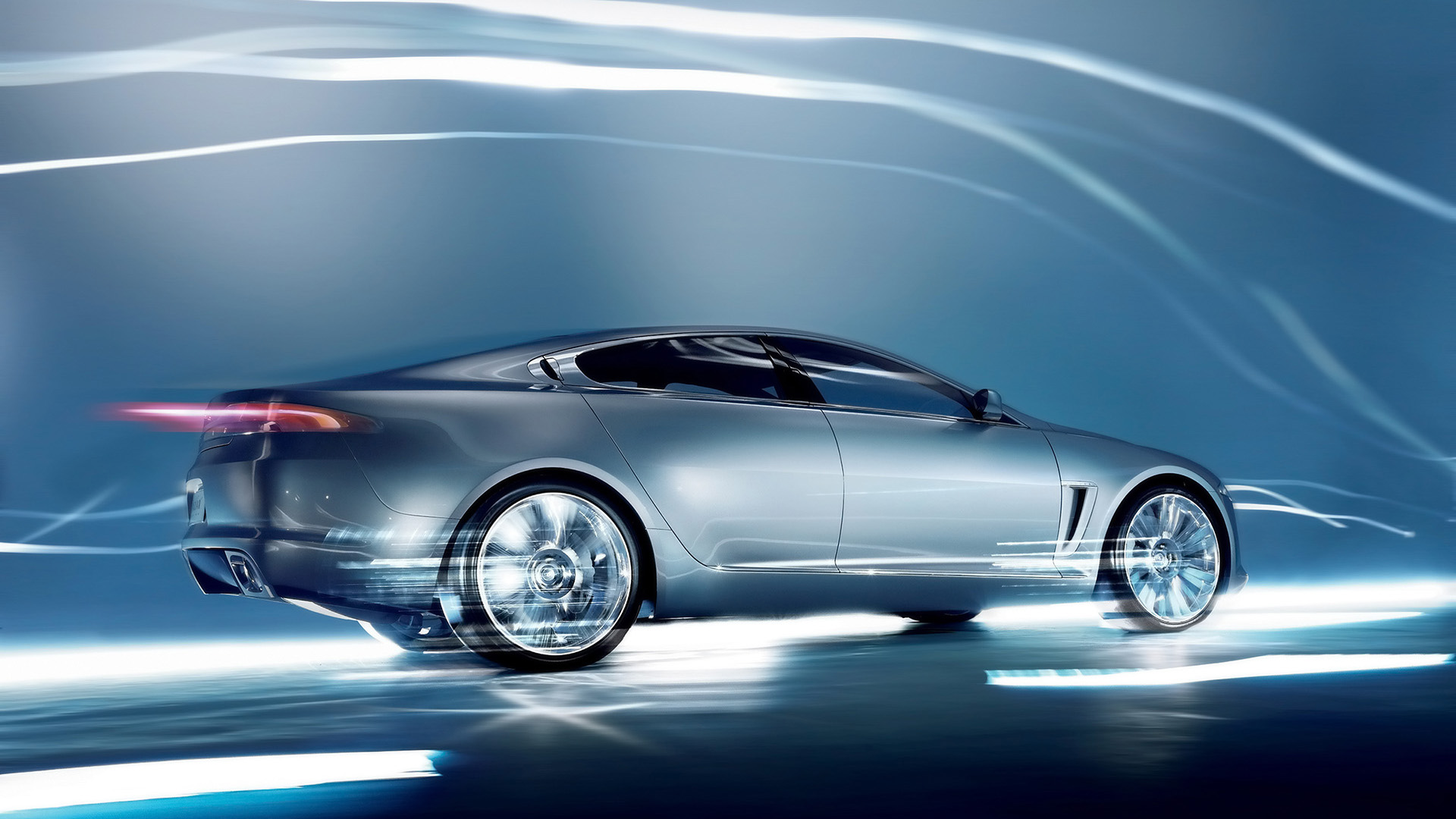 Picture Jaguar XF car on an abstract background