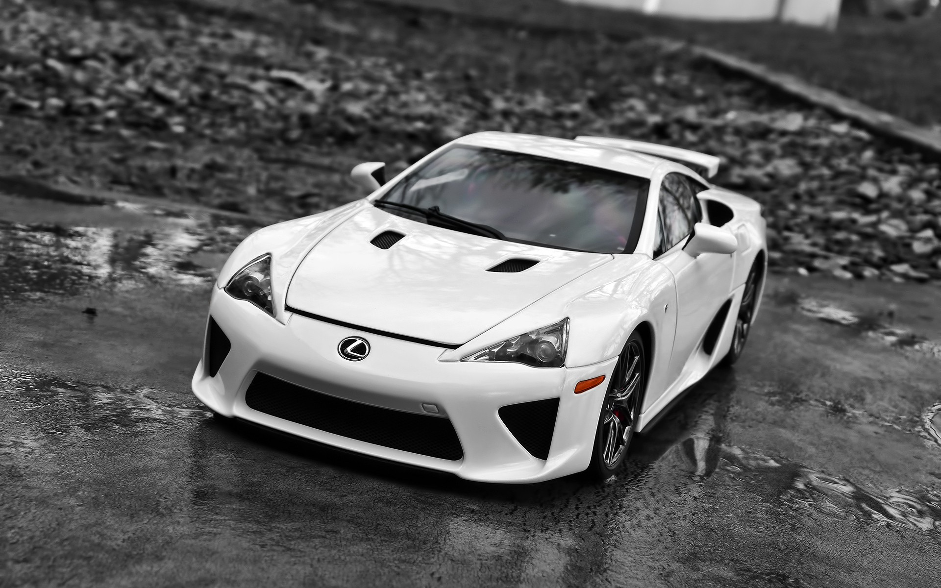 Powerful sports car Lexus LFA, photo wallpapers for your computer