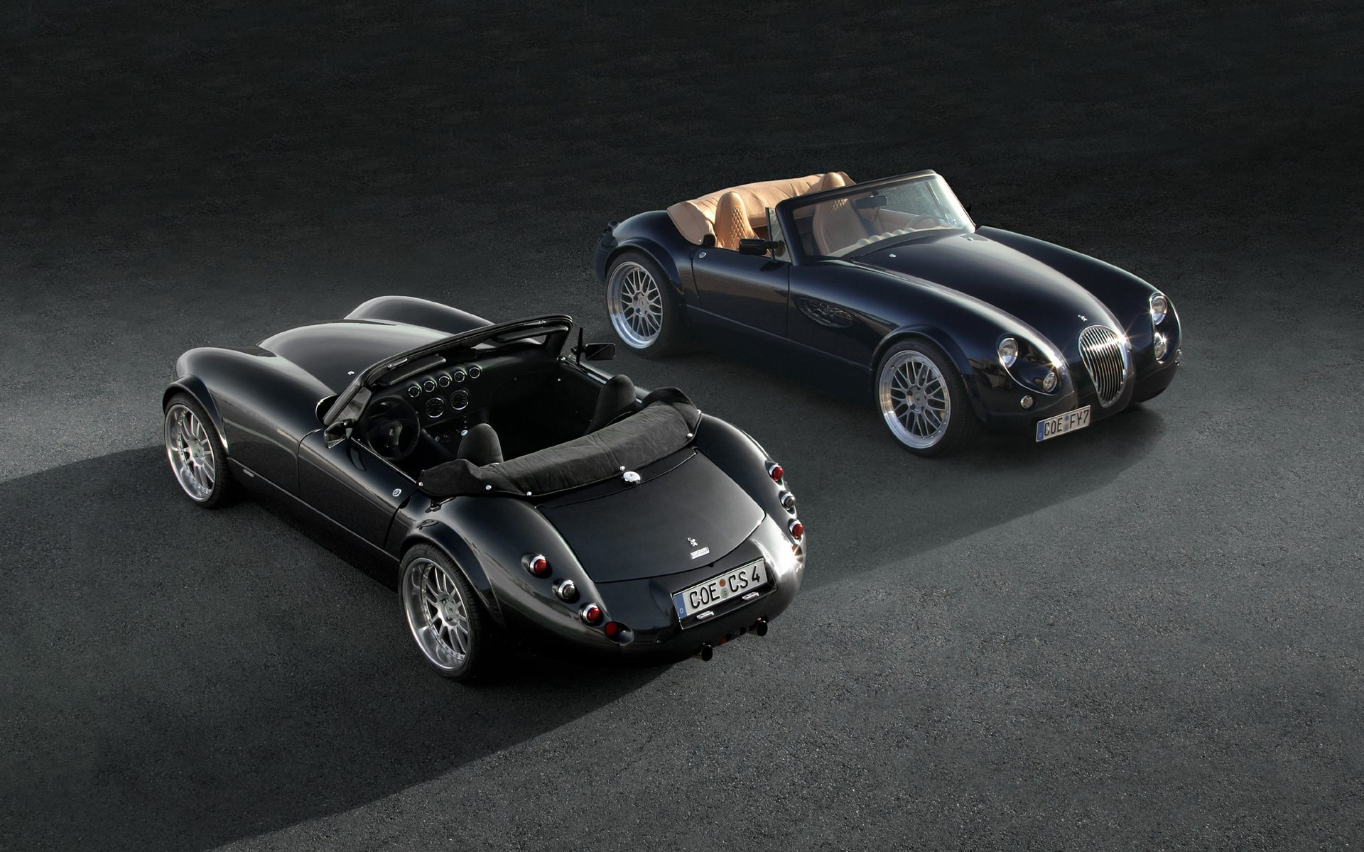 Roadster Wiesmann, front and rear, photos