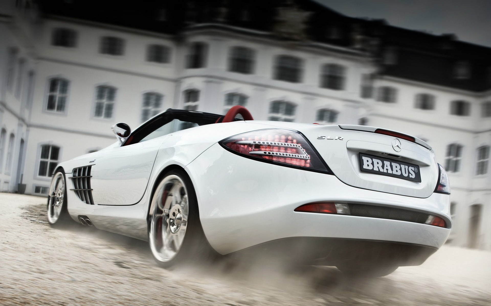Sports car Mercedes SLR MClaren, white, photo