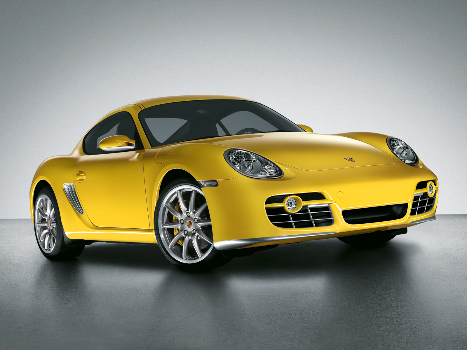 Yellow Porsche in a series of collectible model