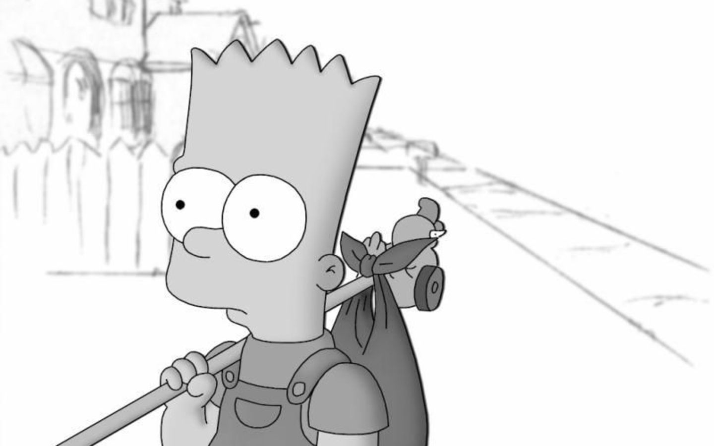 Bart leaves the house