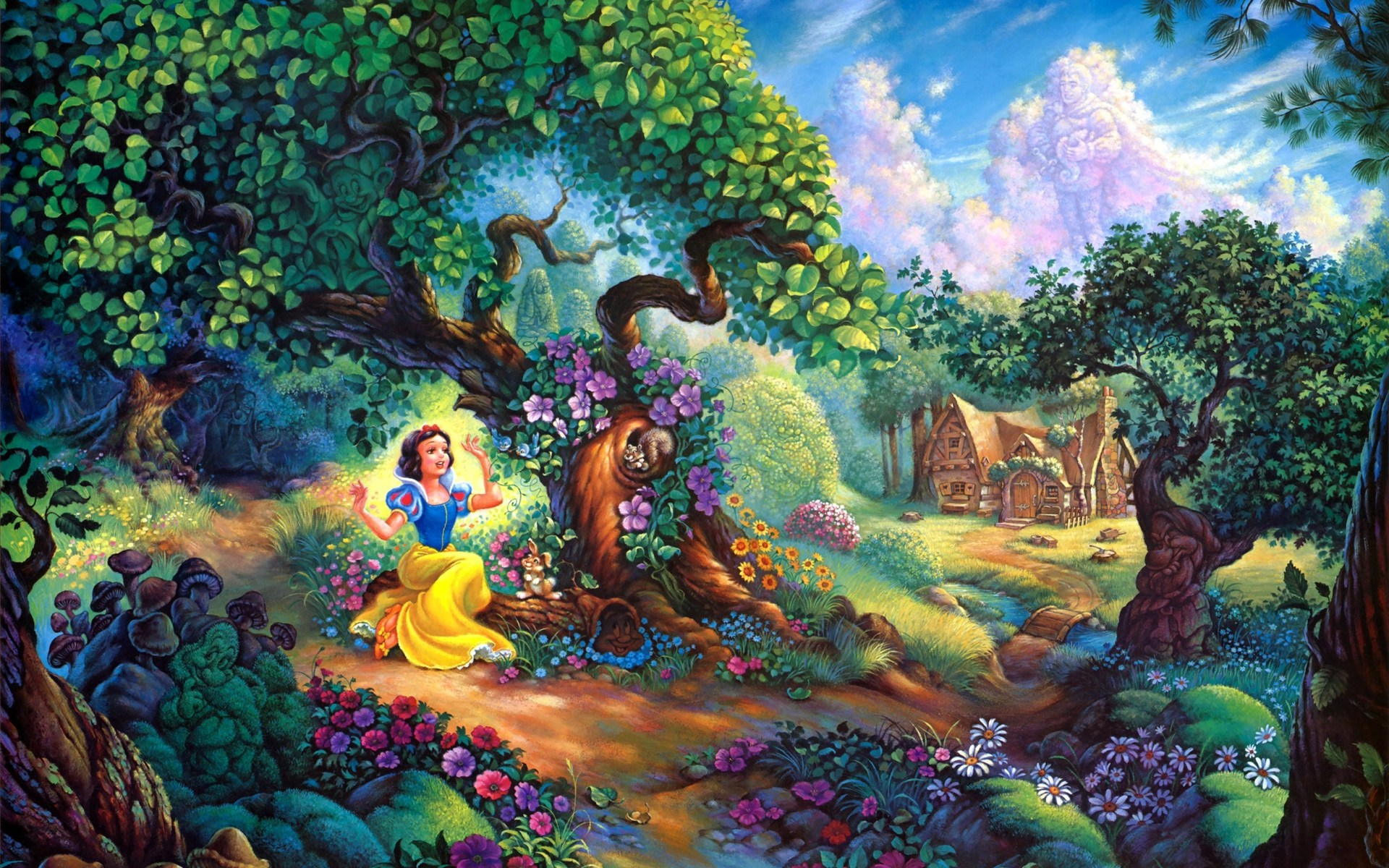 download desktop wallpaper snow white