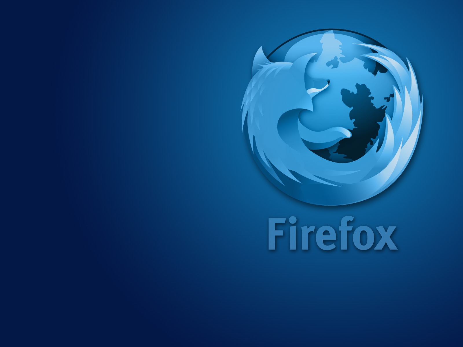 Blue-blue wallpaper dedicated browser FireFox
